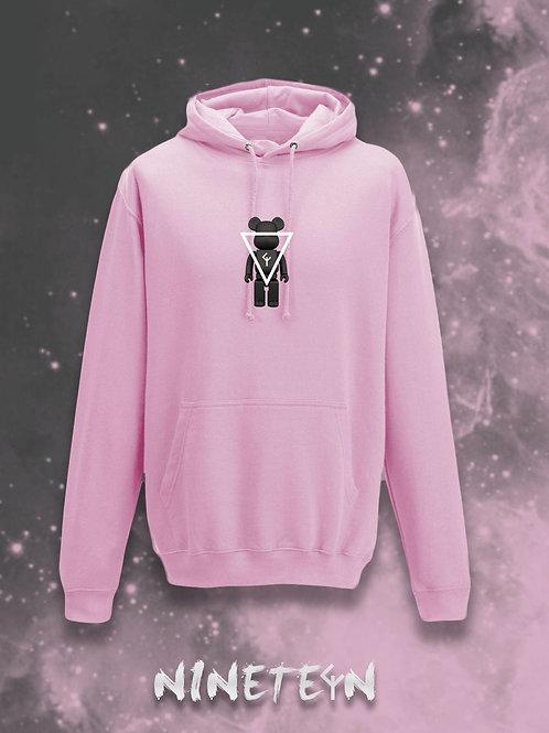 Felpa con cappuccio Pink Nineteen Black Monster personalizzata
