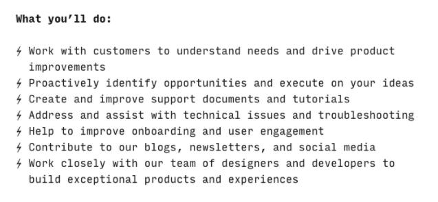 Job description for a community manager
