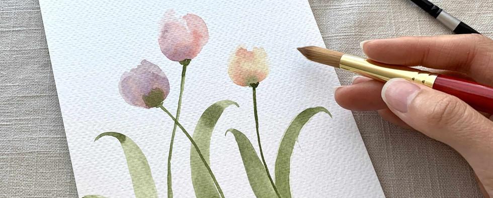 watercolor tulip class bay area.JPG