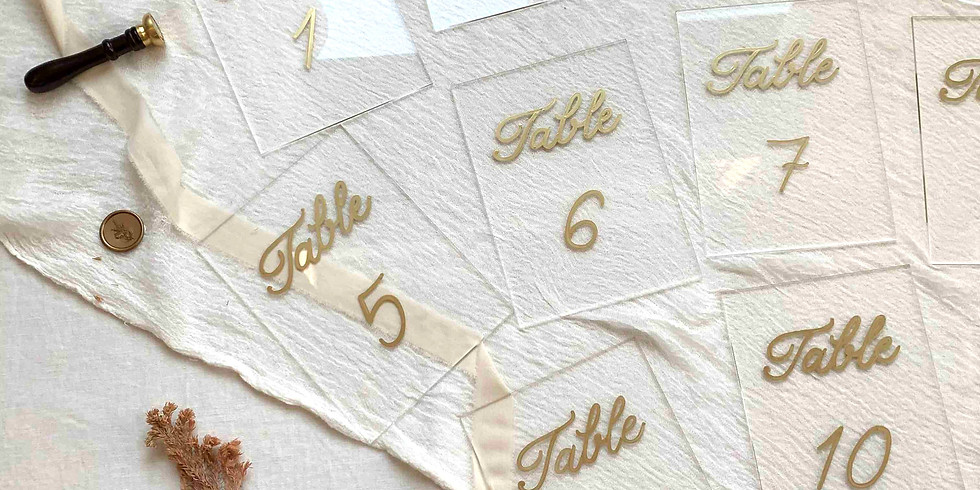 Calligraphy on Different Surfaces and Hot Foiling