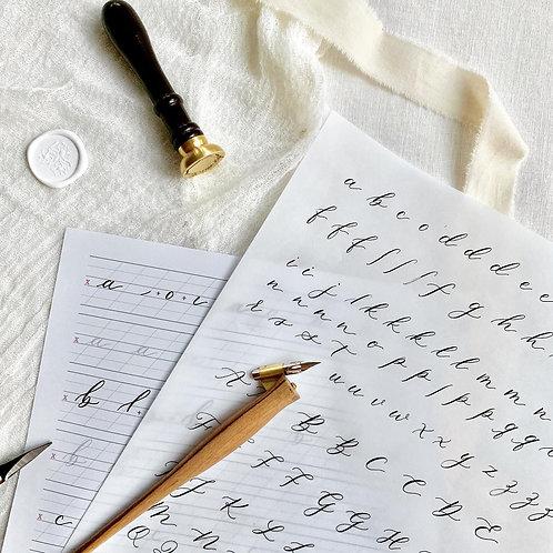 Calligraphy Workbook Sample