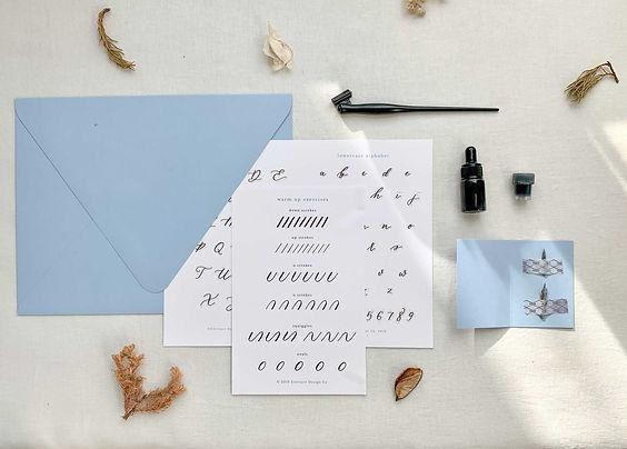 calligraphy-workshop-basic-supply-kit-ev