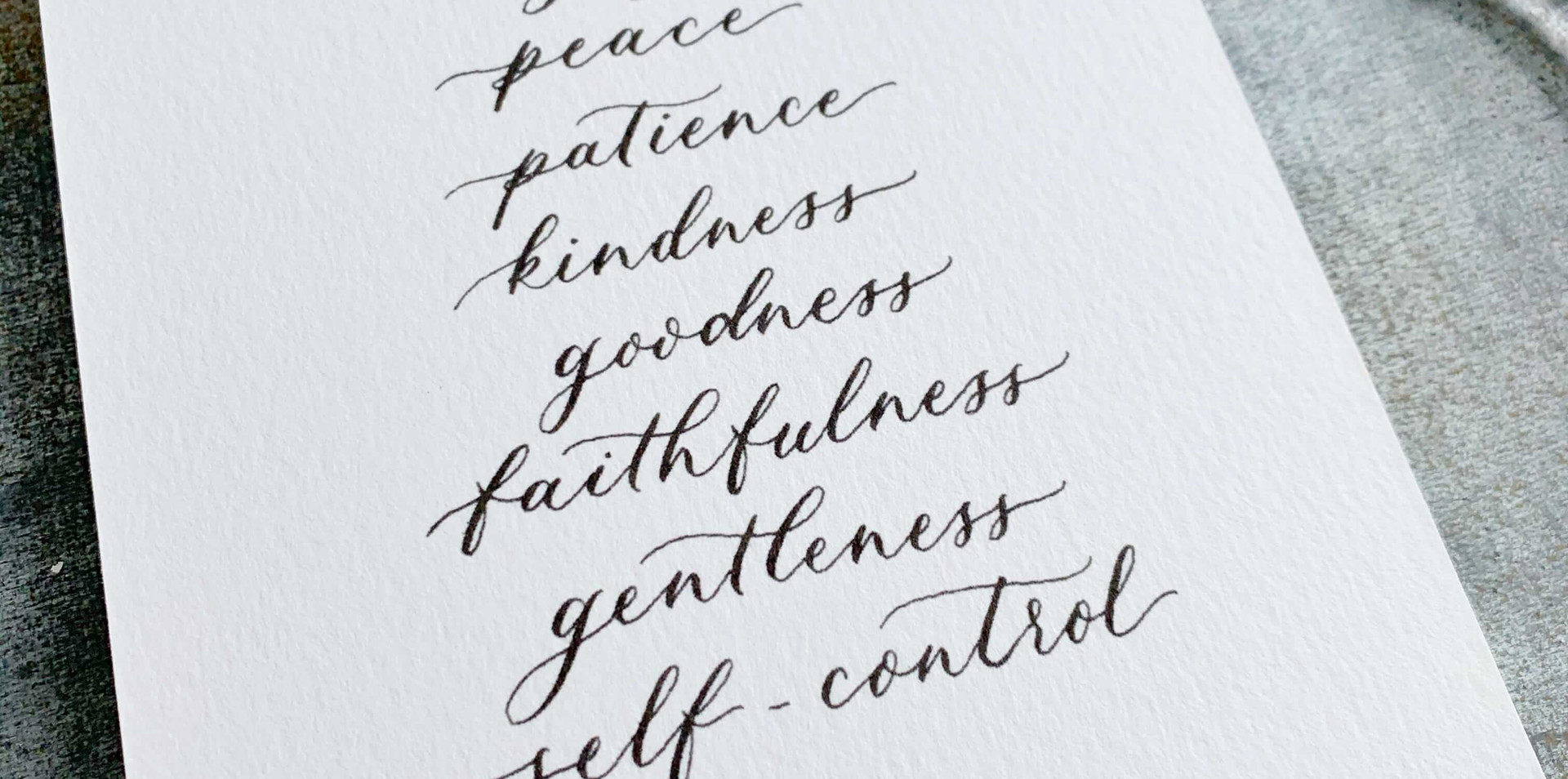 fruit of the spirit calligraphy print cl