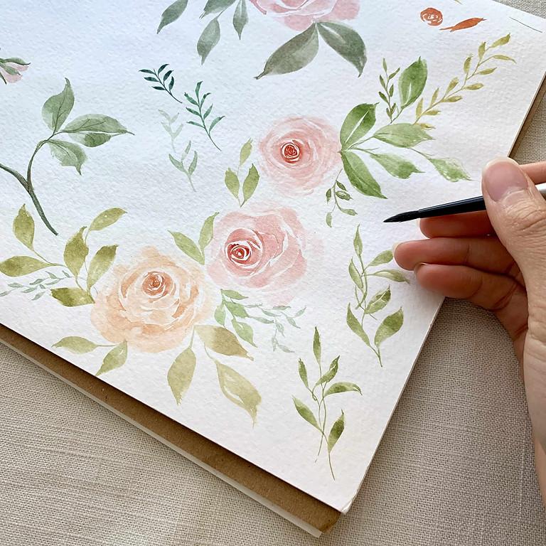Floral Watercolor Workshop for Beginners