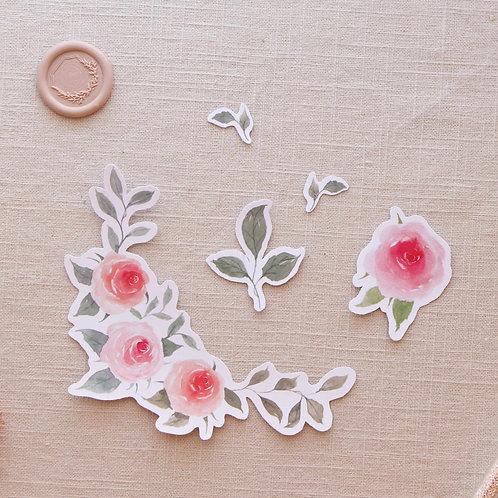 Rose Border Sticker Set