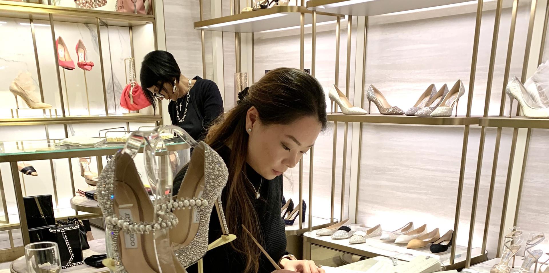 live calligraphy jimmy choo san francisc