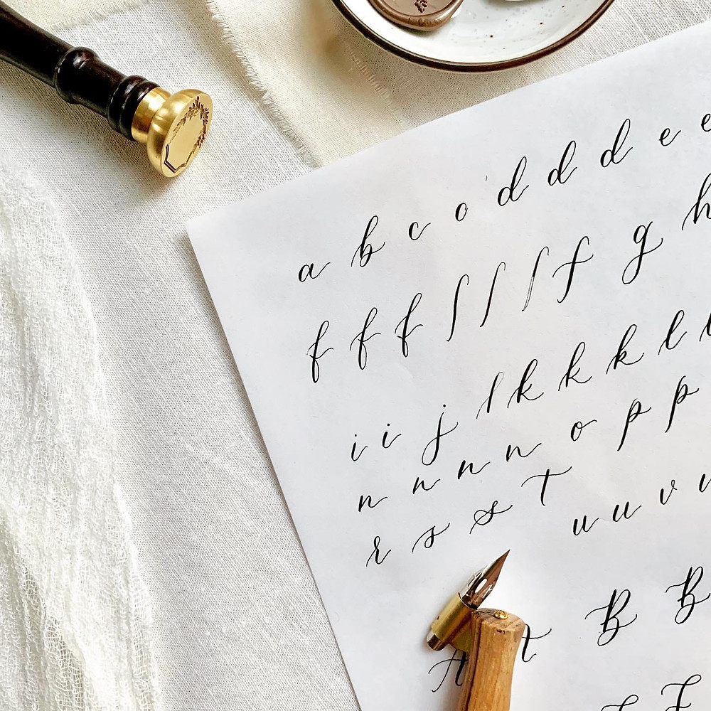 Calligraphy Workbook Sample
