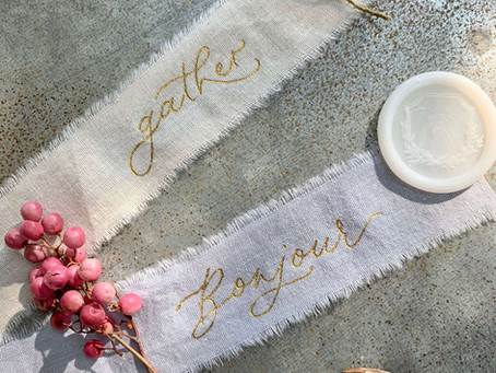 Hot Foil Calligraphy on Ribbon and a List of Recommended Supplies