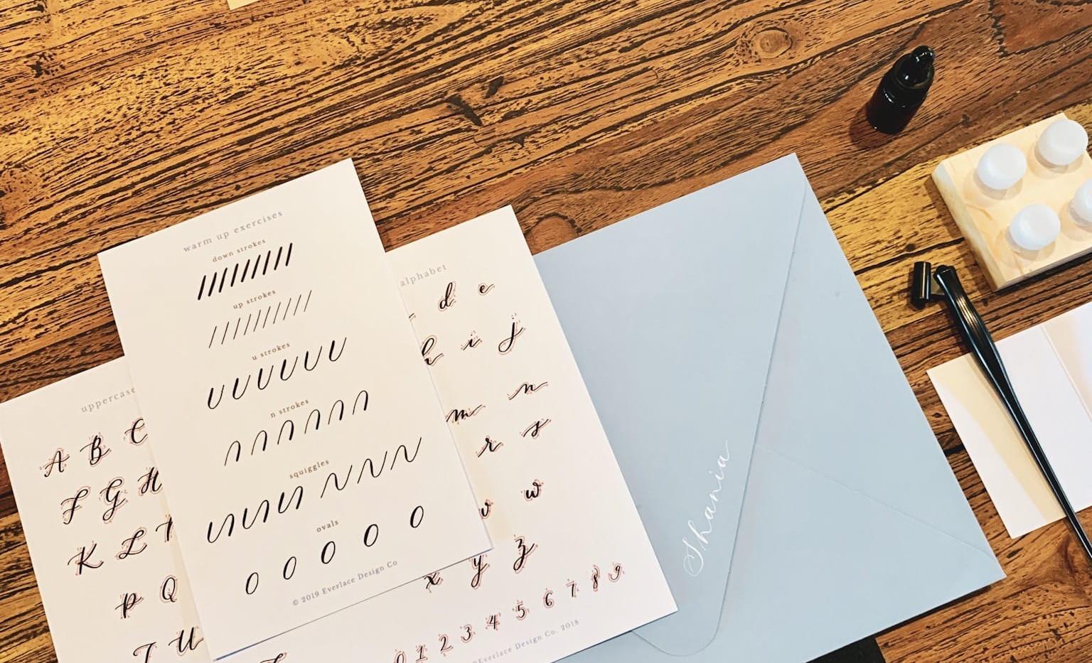 calligraphy-workshop-surabaya-supply-kit