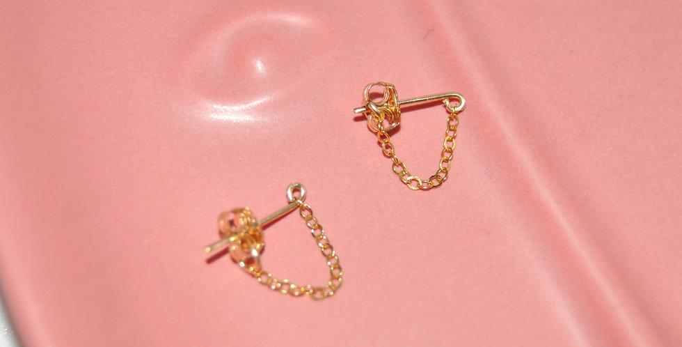 Boucles d'oreilles chainette