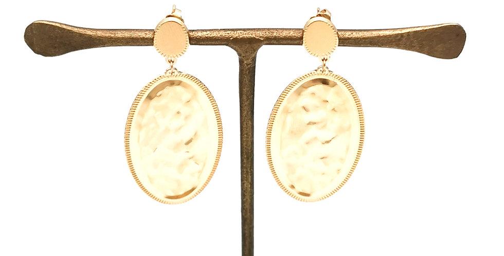 Boucles d'oreilles pendantes ovales