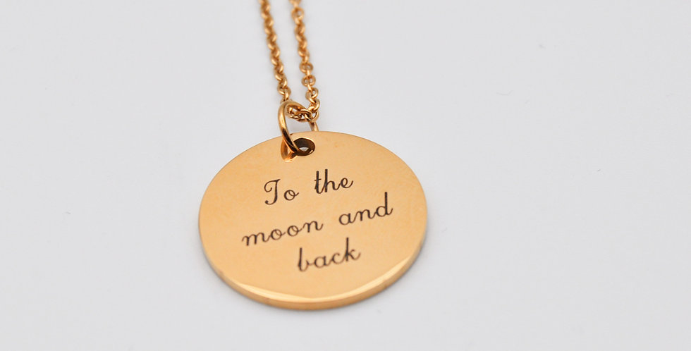 Médaille To the moon and back