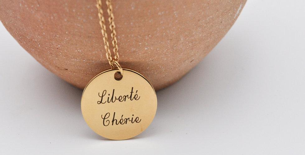 Médaille Liberté chérie