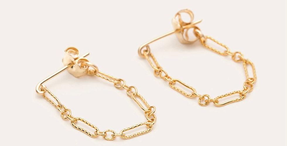 Boucles d'oreilles essentiel forçat chainette