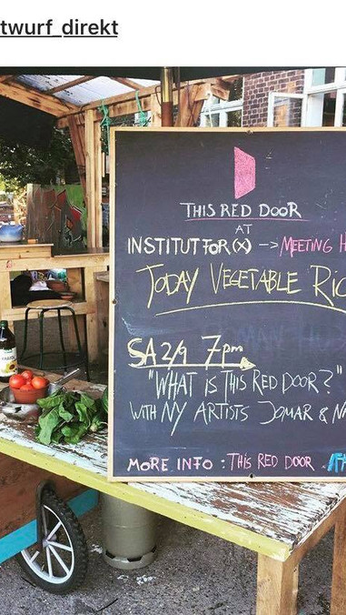 """""""What is This Red Door?"""" talk with a vegetable & rice dinner..."""