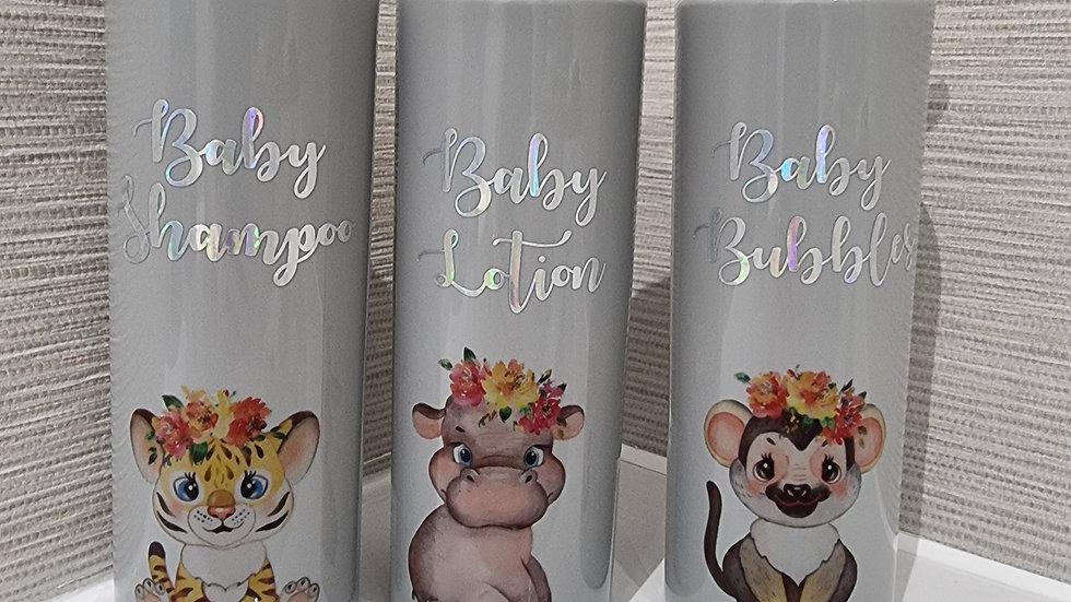 Baby Pump Bottles 500ml Grey