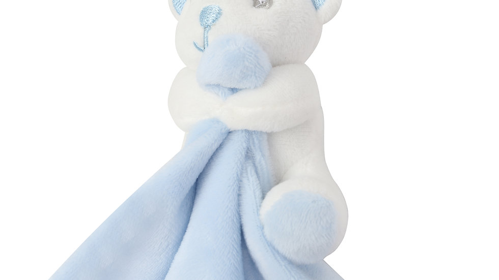 Mumbles Blue Bear Comforter with Rattle
