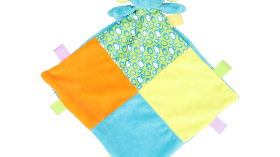 Mumbles Multi coloured Comforter with Rattle