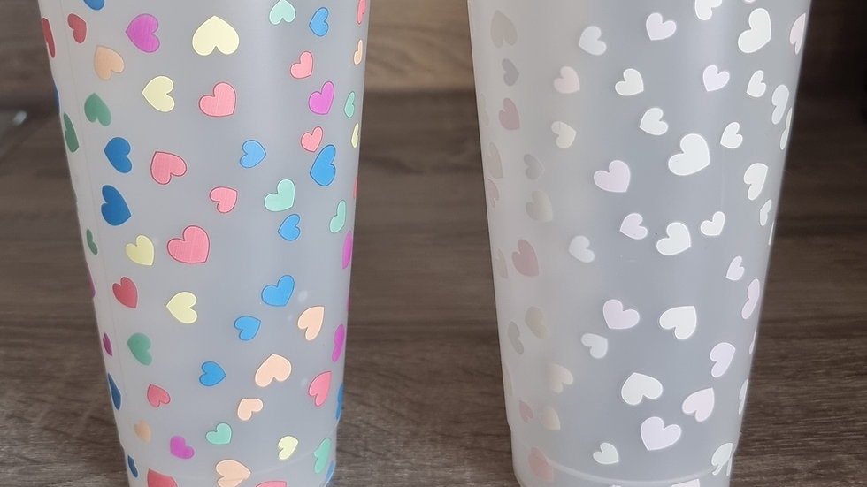 Colour Changing Hearts Cold Cups