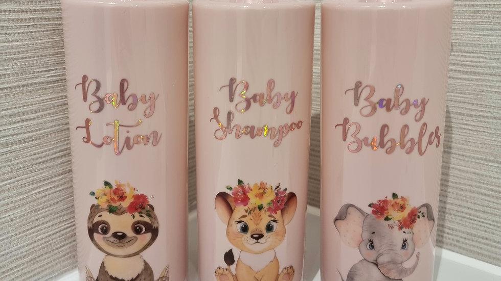 Baby Pump Bottles 500ml Pink Reuseable Bathroom Decor