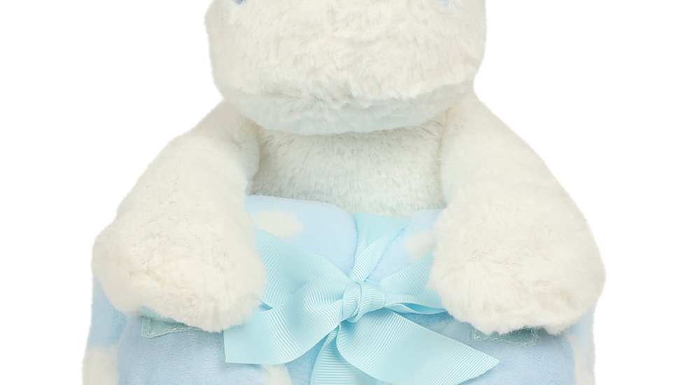 Mumbles Blue Hippo with Blanket