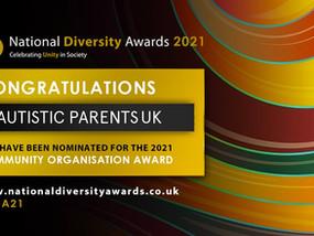 Autistic Parents UK Nominated for the UK' Largest Diversity Awards