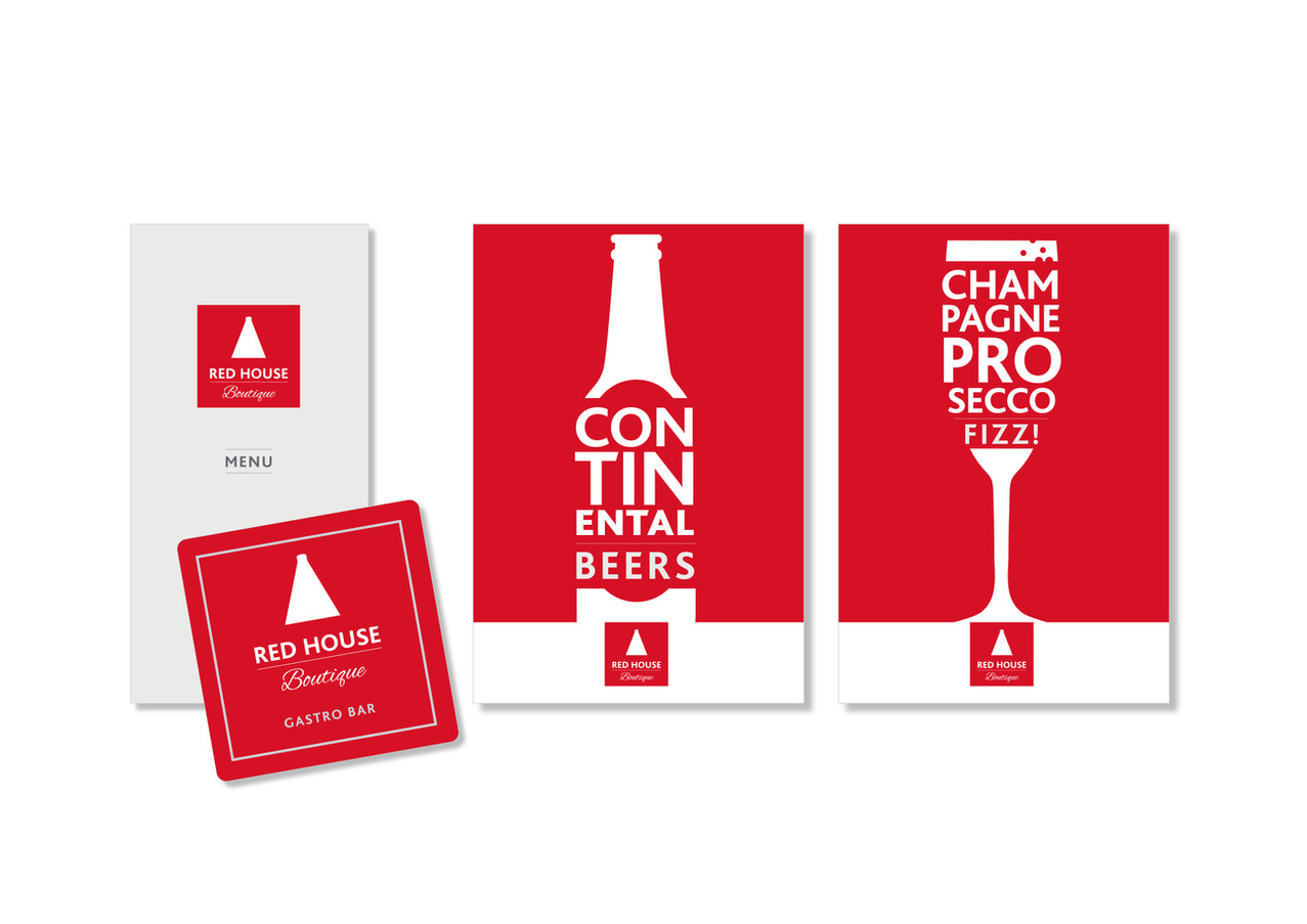 Red House Gastro Bar Branding Posters Me