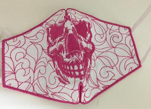 Máscara Caveira Rosa