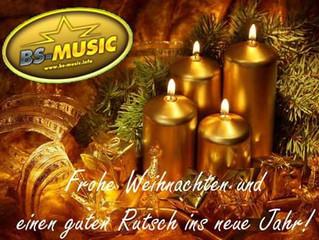 BS-Music wünscht frohe Weihnachten und einen guten Rutsch ins neue Jahr!