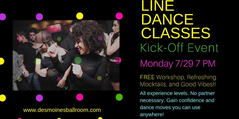 Line Dance Class Kick-Off Event