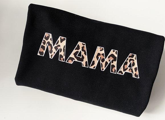 MAMA leopard print | crewneck sweatshirt