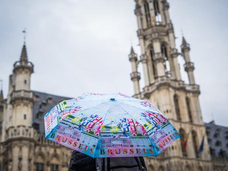 Cum arata Bruxelul cand ploua?