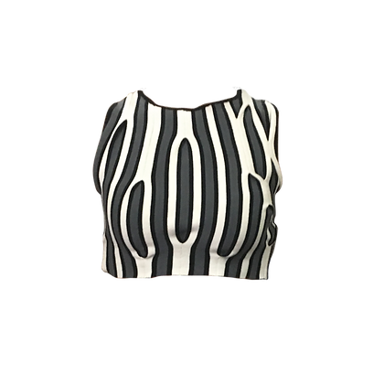 Manipulated Knit Crop Top