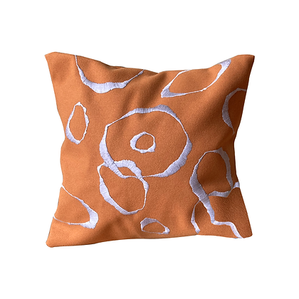 MADE TO ORDER: Hand embroidered Burel Circle cushion
