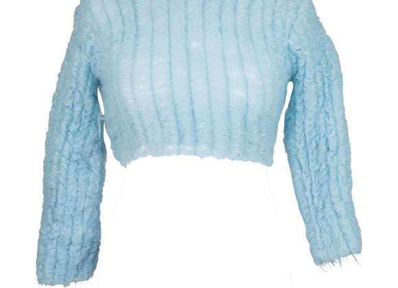 Floated Mohair Stretch Crop-Top