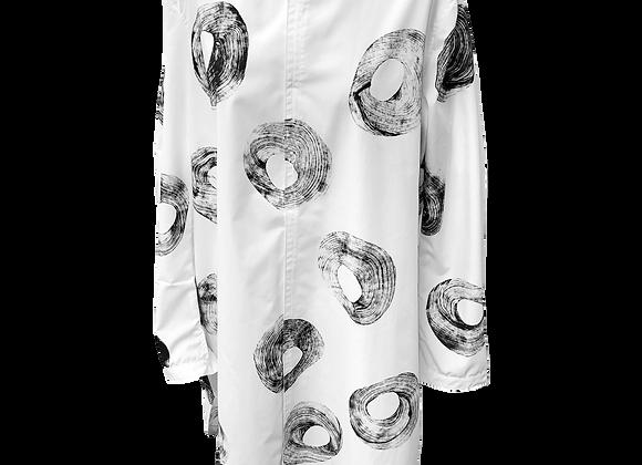 hand printed icon shirt dress