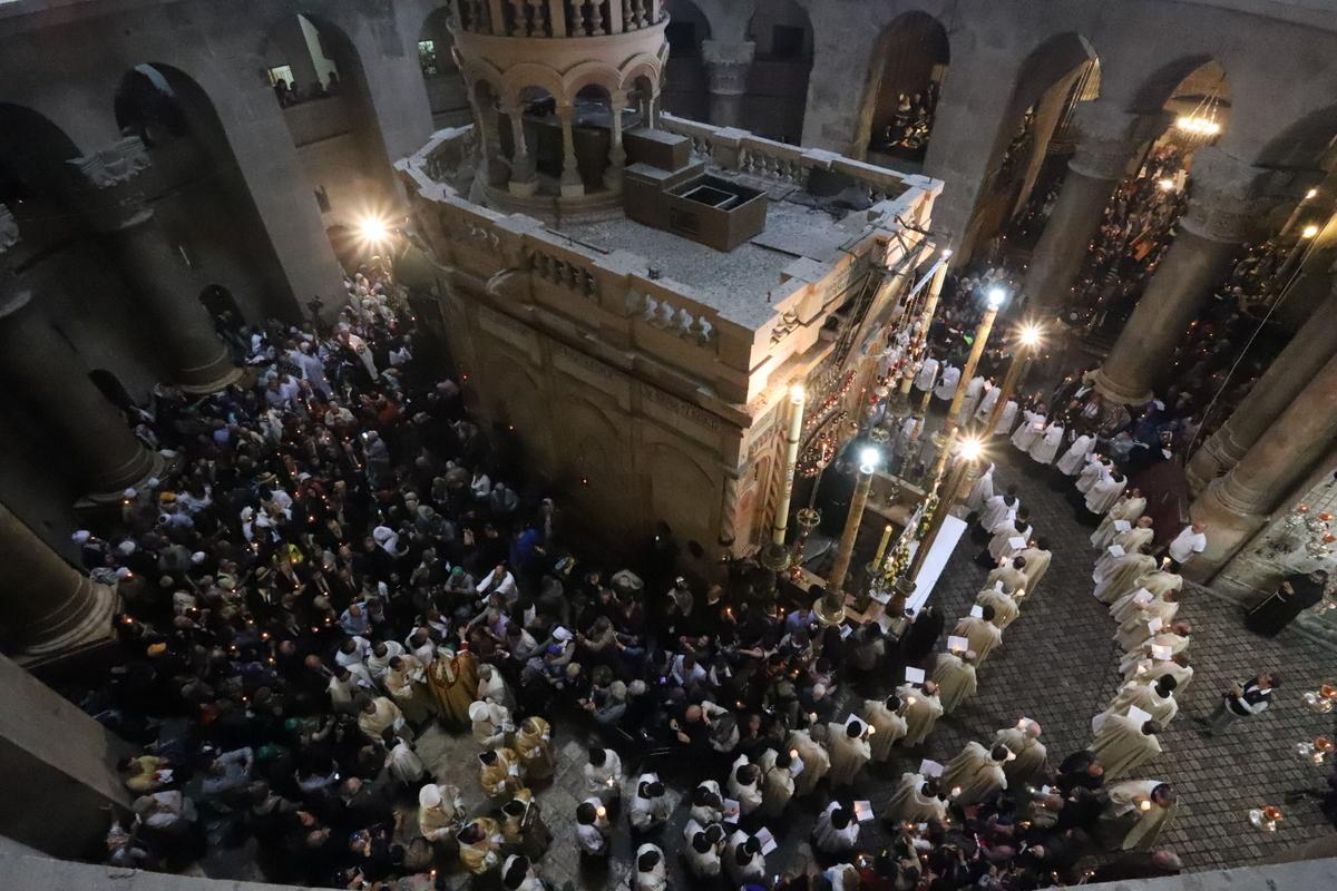 תהלוכת יום ראשון של הדקלים של הקהילה הקת