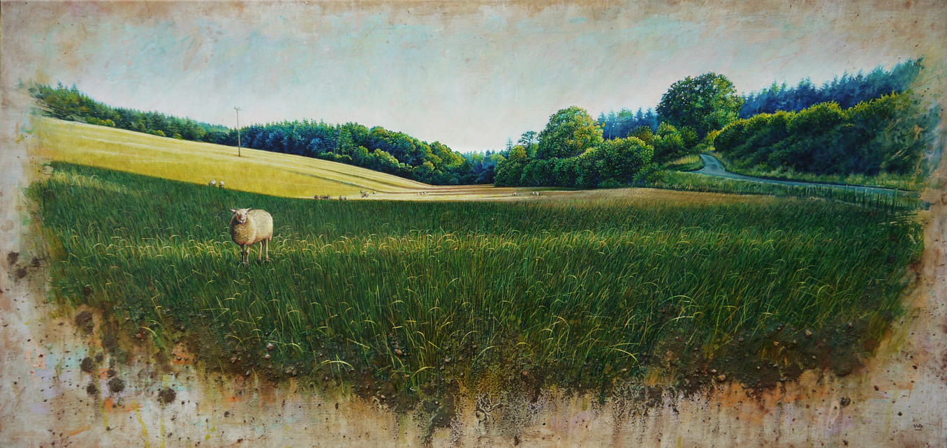 Edge of the Forest. 42x89 cm