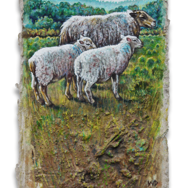 Vorest Ship wi lambs. 10.5x6cm. - SOLD