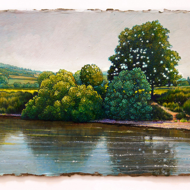 The River Wye at Monmouth - 51 x 21cm. Available
