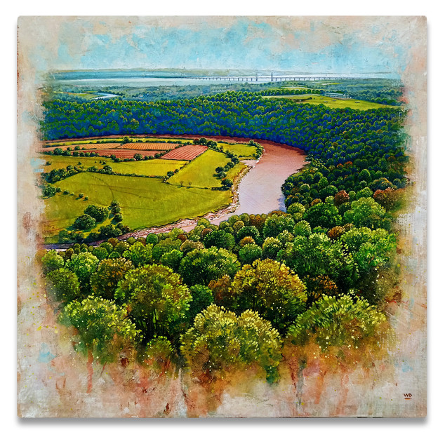 Eagles Nest, River Wye  - 32.5x32.5cm.  SOLD