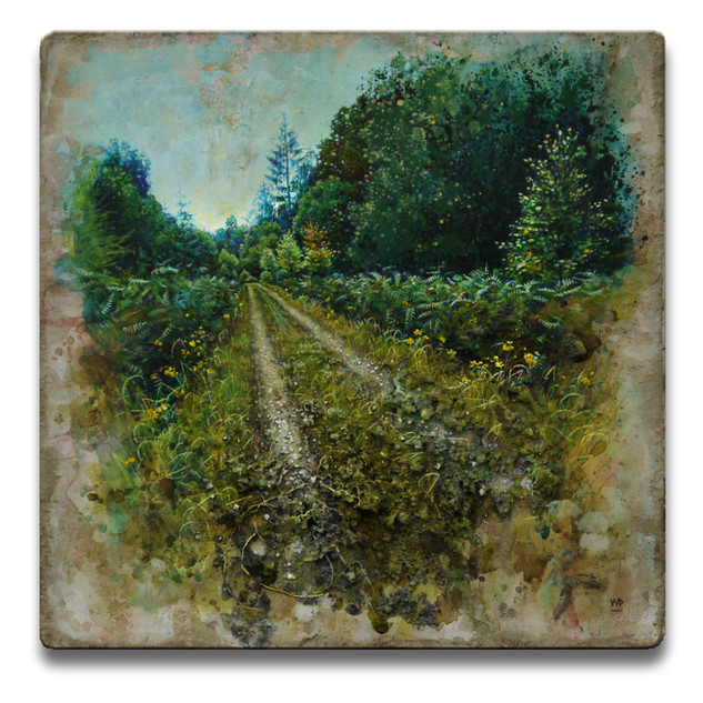 Summer trail. 26x26cm. - SOLD