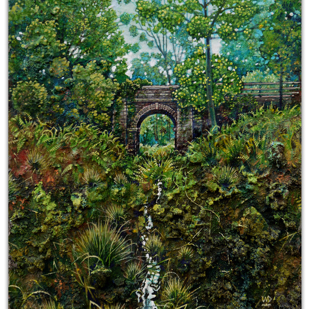 Reclaimed by nature, Mireystock Tunnel. 20 x 15 cm