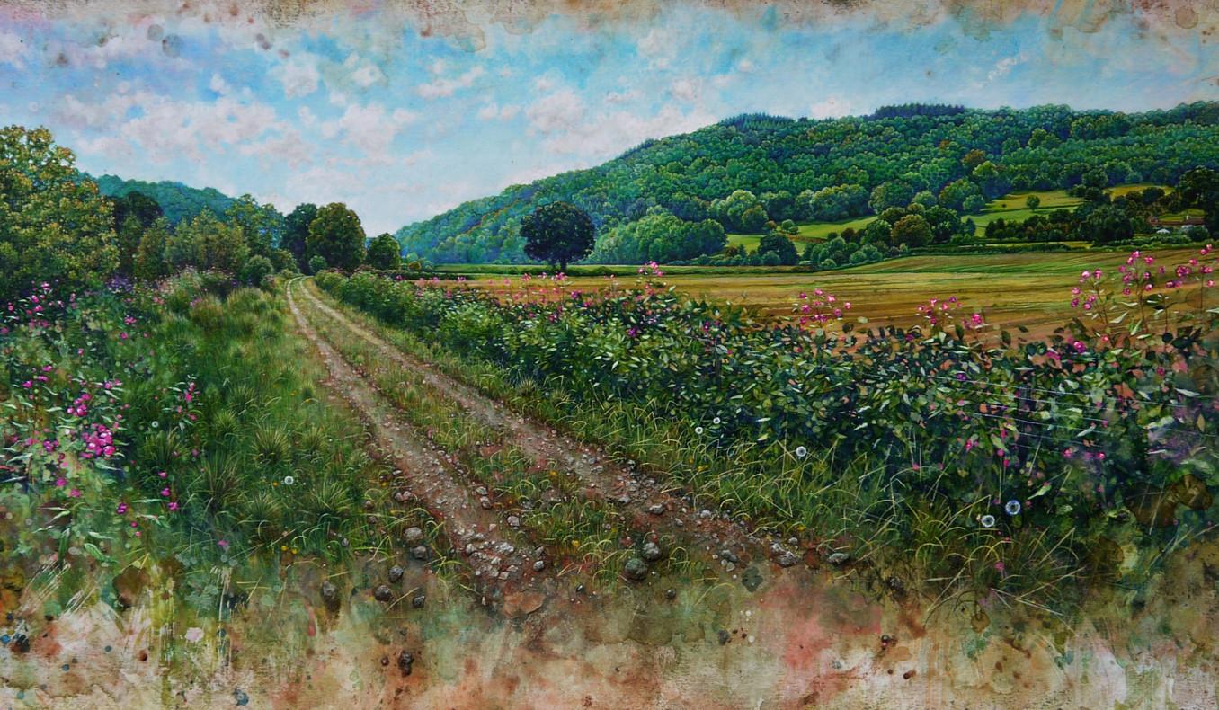 Wye Valley Walk. 42x89cm.