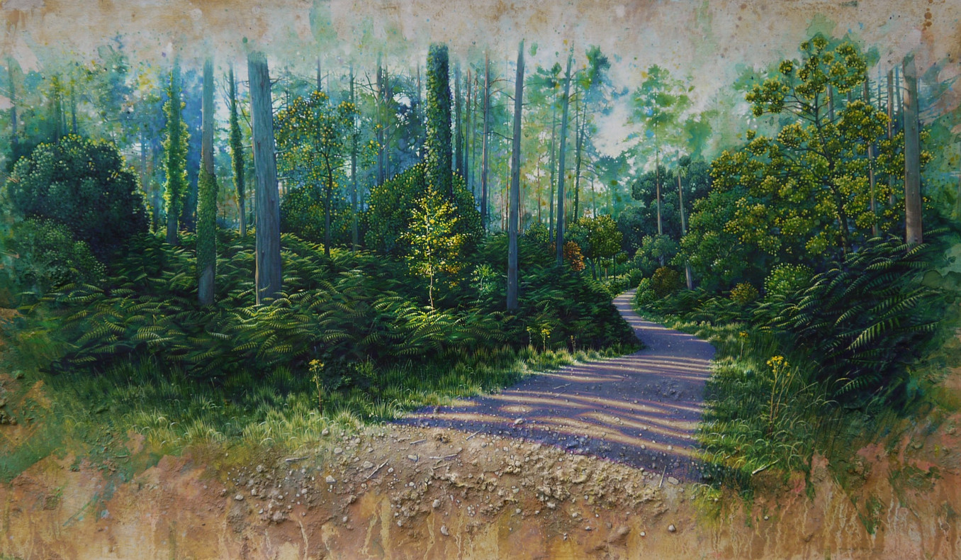 Hiraeth - Longing for home. 42x89cm. SOLD