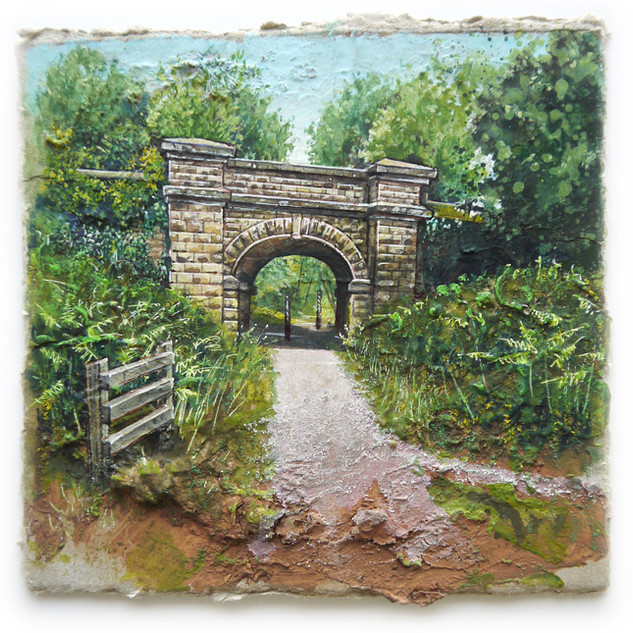 Dilke Bridge. 14x14cm. - SOLD
