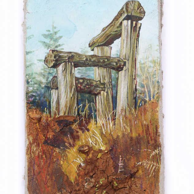 The Giants Chair. 10x13cm. - SOLD