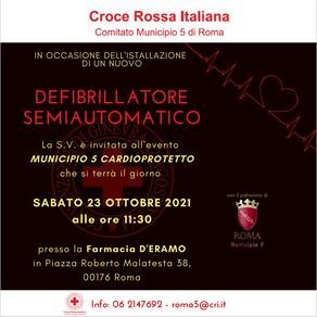 Inaugurazione defibrillatore semiautomatico a disposizione dei cittadini - primo a Roma della CRI