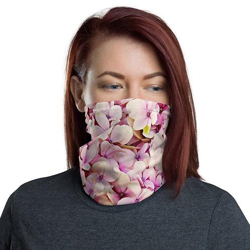 Pink Flower Neck gaiter Protective Mask
