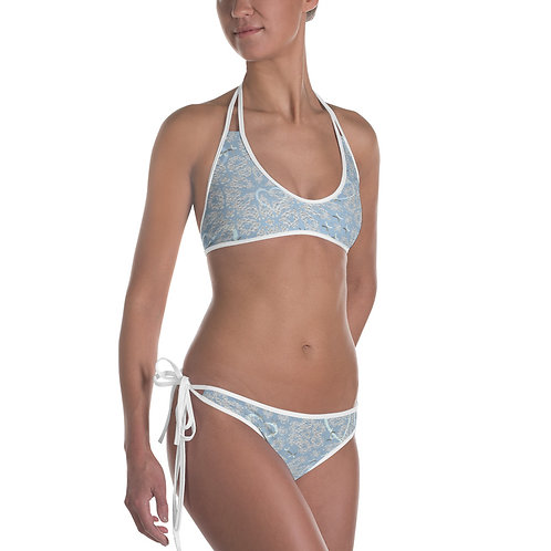 Blue hearts and lace Bikini, Bathing Suit, Swim Suits, Beach Wear